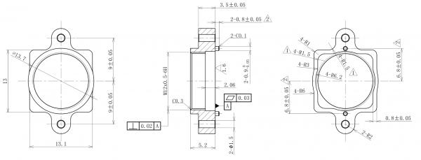 Objektivhalterung Lensholder Metall M12x0,5 18/5,2