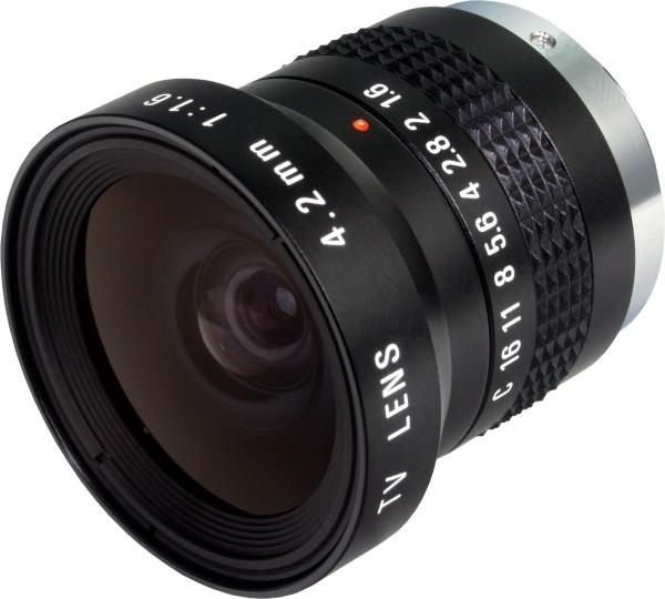 4,2 mm C-Mount Objektiv Pentax H416 (KP) /  Ricoh FL-HC0416X-VG - 1.6 / 4.2mm