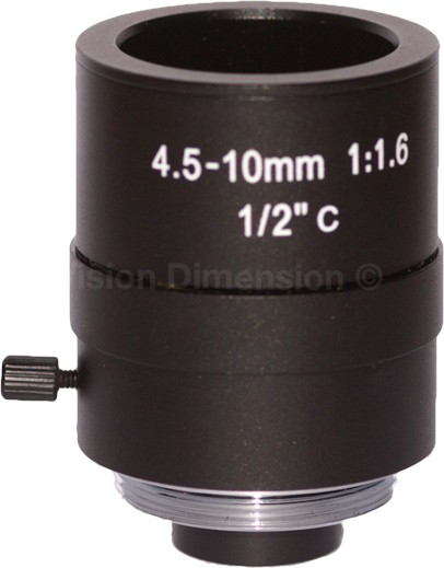4,0 - 10mm C-Mount VD-Optics Objektiv 1/2""