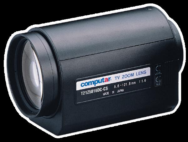 5,8 - 121,8 mm CS-Mount Computar Motor Zoom Objektiv T21Z5816DC-CS