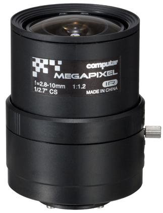 2,8 - 10,0 mm CS-Mount Computar 3MP Objektiv A4Z2812CS-MPIR