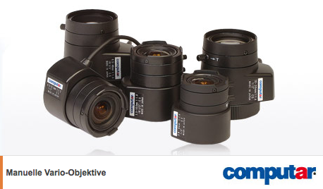 Computar-Vario-Objektive-mit-manueller-Blende-fu-r-1-3-22-1-2-22-Sensoren
