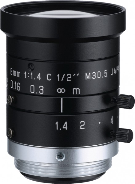 6 mm C-Mount Objektiv Pentax H614-MQ (KP) /  Ricoh FL-HC0614-2M - 1.4 / 6mm