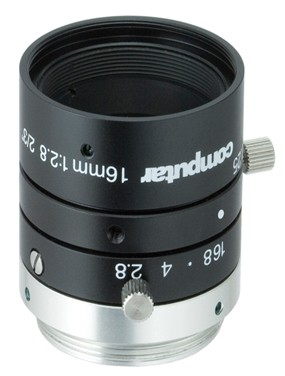 16 mm C-Mount 6MP Objektiv Computar M1628-MPW3