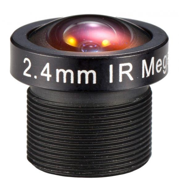 "2,4mm Fisheye 132° Öffnungswinkel MEGAPIXEL BOARD-LENS-IR Format 1/3"" S-Mount (M12x0,5) BL-02420MP13IR"