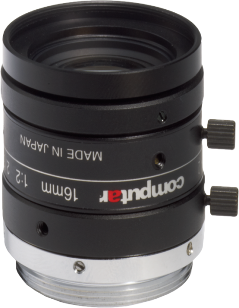 "M1620-MPW2 Computar 2/3"" 16mm F2.0 5 Megapixel Ultra Low Distortion Lens (C Mount)"