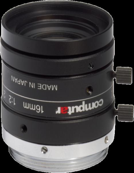 "M1620-MPW2 Computar 2/3"" 16mm F2.0 5 Megapixel Ultra Low Distortion Lens (C Mount)"