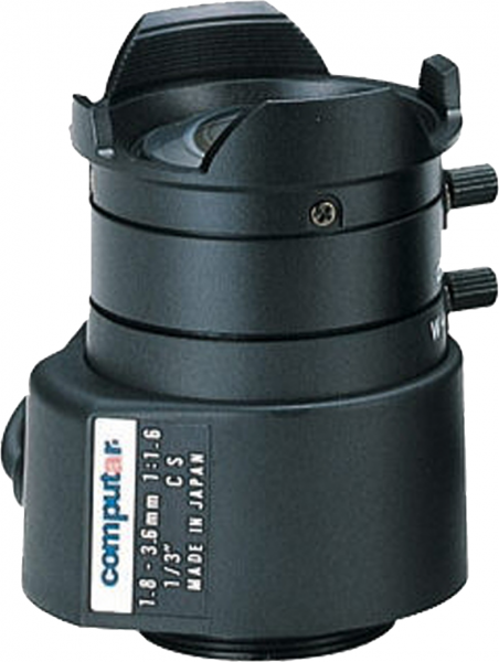 1,8 - 3,6 mm CS-Mount Computar Objektiv TG2Z1816FCS DC