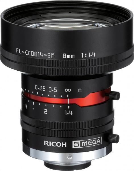 8 mm C-Mount Objektiv Pentax C814-5M (KP) /  Ricoh FL-CC0814-5M - 1.4/8mm