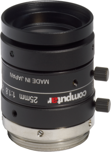 "M2518-MPW2 Computar 2/3"" 25mm F1.8 5 Megapixel Ultra Low Distortion Lens (C Mount)"