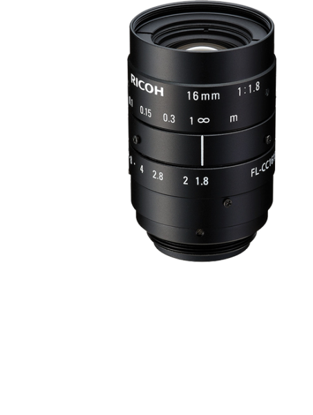 16 mm C-Mount Objektiv Ricoh FL-CC1618-5MX - 1.8/ 16mm