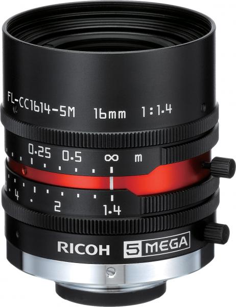 16,0mm C-Mount Objektiv Pentax C1614-5M (KP) /  Ricoh FL-CC1614-5M - 1.4/16mm