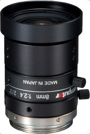 """8 mm C-Mount Computar 5 Megapixel Objektiv, 5M, 2/3"""", F2.4 - F16.0, M0824-MPW2"""