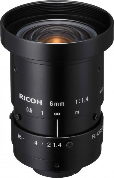 6 mm C-Mount Objektiv Ricoh FL-CC0614A-2M