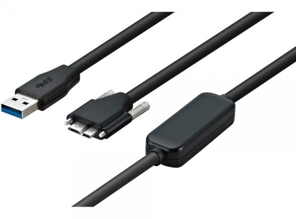 USB 3.0, Standardkabel, gerade, verschraubbar, 10m The Imaging Source CA-USB30-AmB-BLS/10
