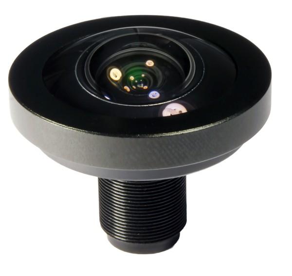 1,41mm Megapixel Fisheye M12x0.5 Objektiv mit bis zu 9MP für 1 / 2.3 Sensoren