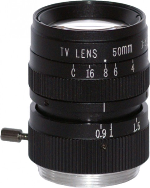 50 mm C-Mount Objektiv 5MP 2/3""