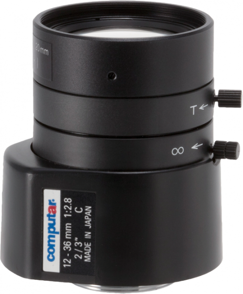12 - 36mm C-Mount Computar Objektiv MG3Z1228FC-MP DC