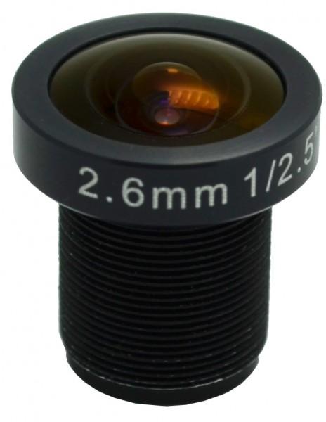 2,6mm 8MP Objektiv als Ersatzobjektiv für die GoPro Hero 2 und 3 Fisheye Weitwinkel Objektiv mit 110° Öffnungswinkel