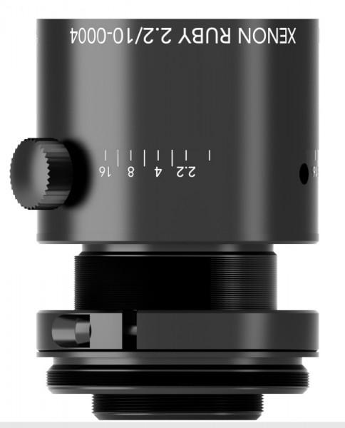 10 mm C-mount Schneider Kreuznach Objektiv Xenon-RUBY 2.2/10
