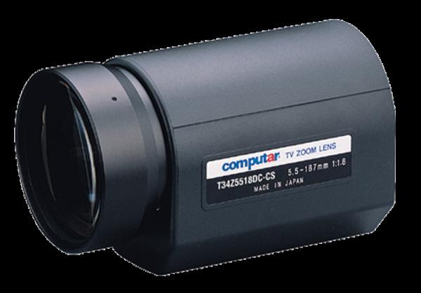 5,5 - 187,0 mm CS-Mount Computar Motor Zoom Objektiv T34Z5518PDC-CS