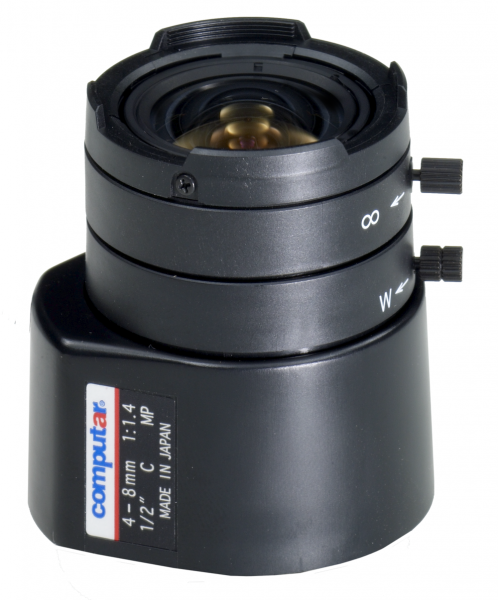 4,0 - 8,0 mm C-Mount Computar Objektiv HG2Z0414FC-MP DC