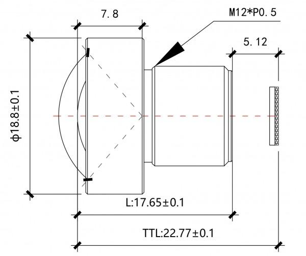 3,5mm Megapixel Miniobjektiv BL-5M03528MP118LDIR