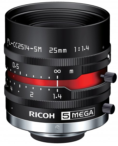 25 mm C-Mount Objektiv Pentax C2514-5M(KP) /  Ricoh FL-CC2514-5M - 1.4/25mm