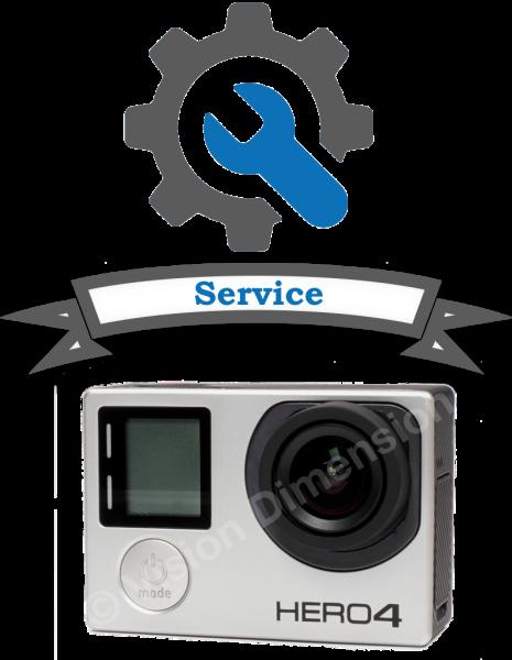 Umbau GoPro Hero 3+ oder Hero 4 BE inklusive UHD80V2