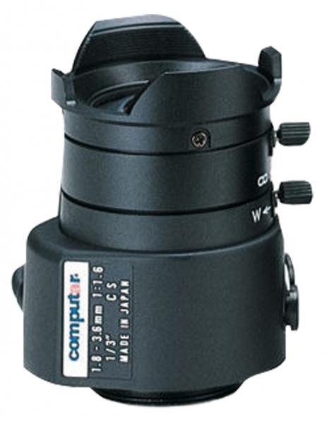 1,8 - 3,6 mm CS-Mount Computar Objektiv TG2Z1816AFCS