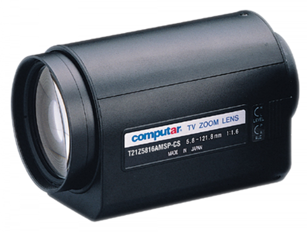 5,8 - 121,8 mm CS-Mount Computar Motor Zoom Objektiv T21Z5816AMSP-CS