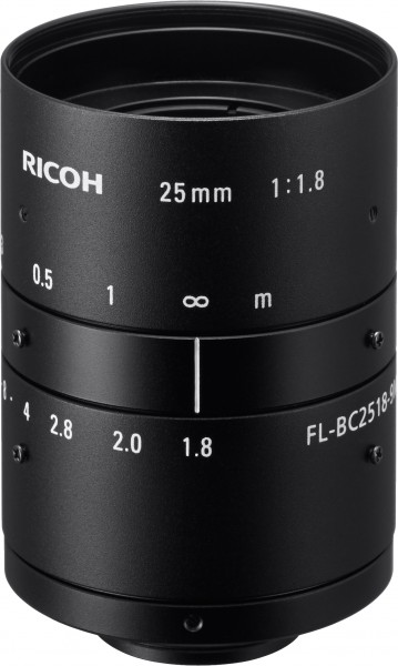 25 mm C-Mount Ricoh Objektiv FL-BC2518-9M - 1.8/25mm