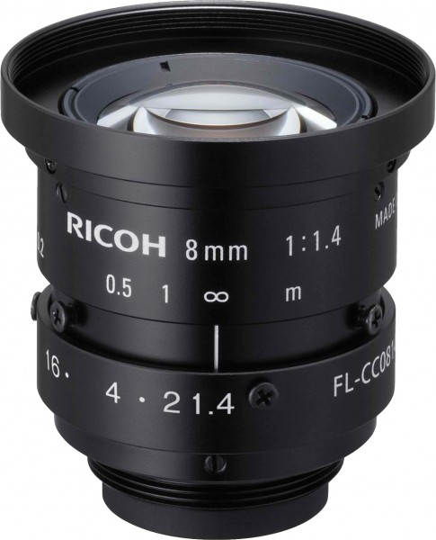 8 mm C-Mount Objektiv Ricoh FL-CC0814A-2M