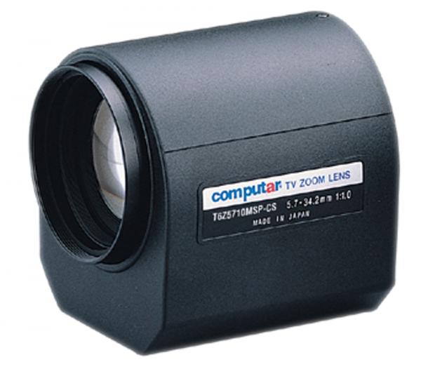 5,7 - 34,2 mm CS-Mount Computar Motor Zoom Objektiv T6Z5710MSP-CS