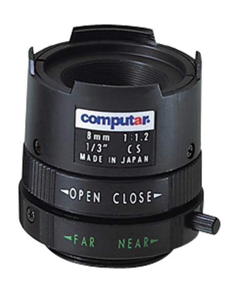 8,0 mm CS-Mount Computar Objektiv T0812FICS